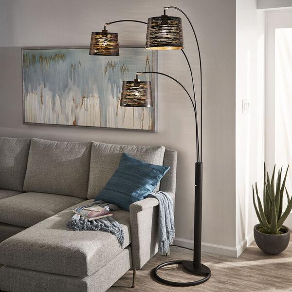 Mori Black Three-Light Tree Floor Lamp, image 4